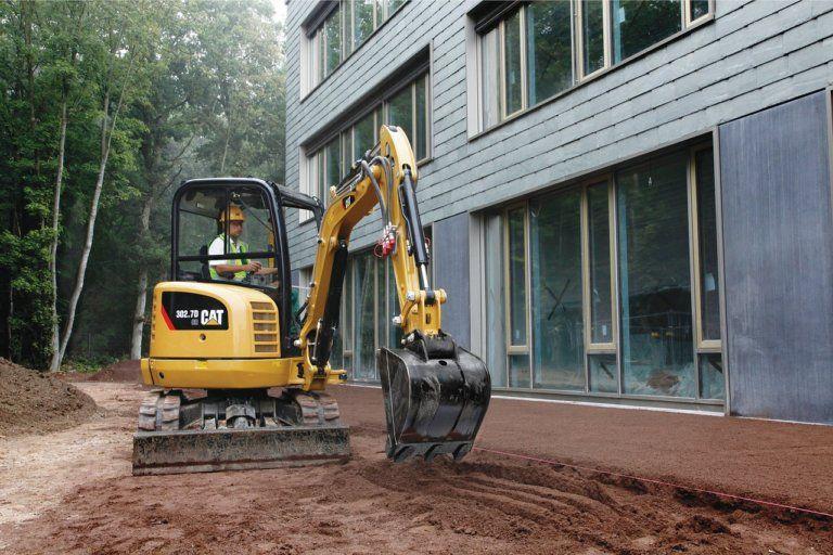 Mini-excavatrice pour un travail propre et respectueux de l'environnement