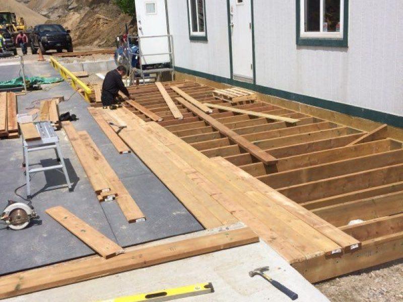 Réalisation DRAINSPEC patio en bois traité