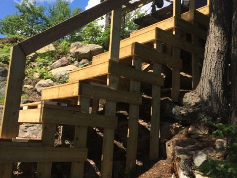 Réalisation DRAINSPEC structure de bois en pente