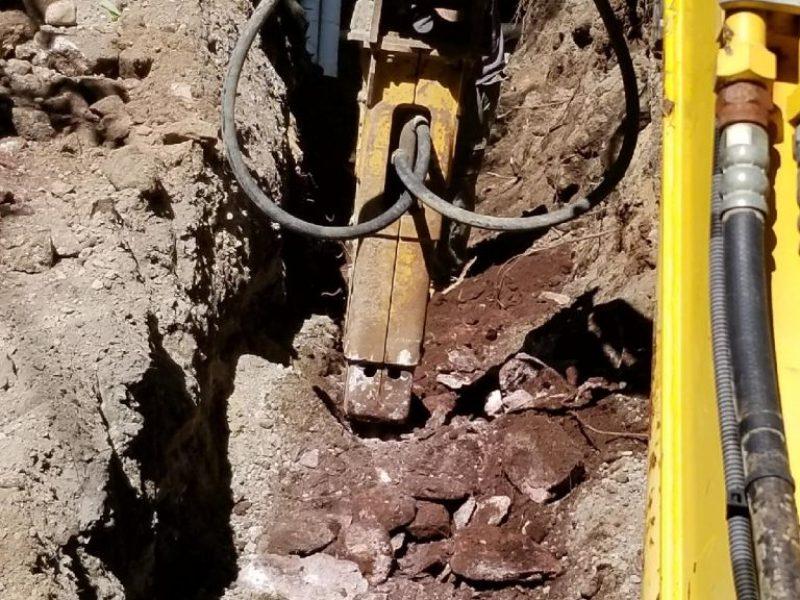 Réalisation DRAINSPEC excavation avec machinerie