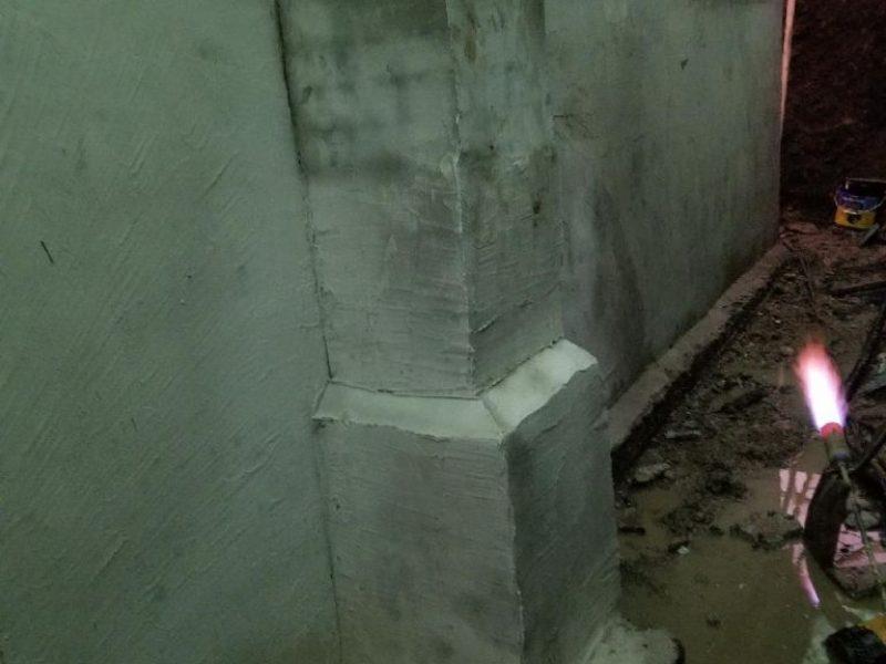 Réalisation DRAINSPEC réparation de fissures sur solage ou fondation
