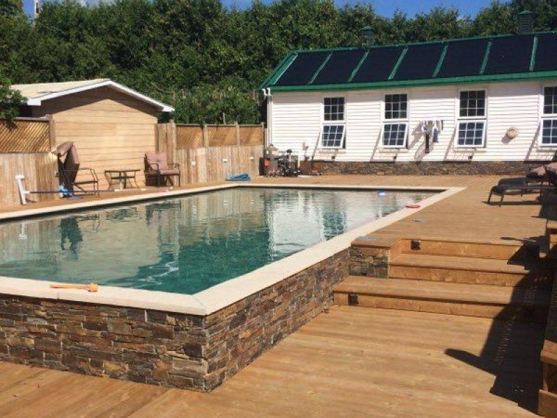 Réalisation DRAINSPEC rénovation deck et plate-forme de piscine dans un spa