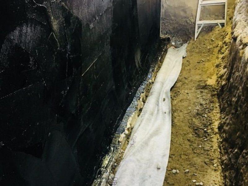 Réalisation DRAINSPEC réparation fondation hydrofuge